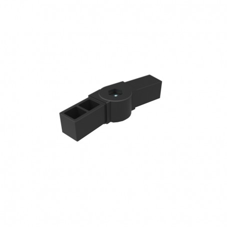 SquareFix® 2-way connector with hinge