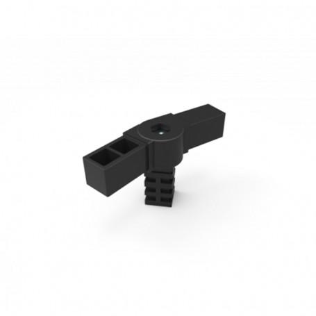 Conector SquareFix® 3 cai 90° cu balama