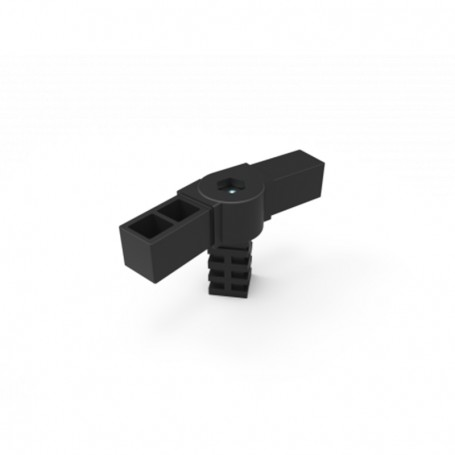SquareFix® 3-way connector 90° with hinge