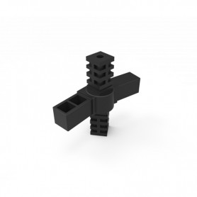 SquareFix® 4-way 180° connector with hinge
