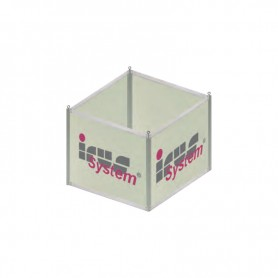 Advertising cube with PVC panels