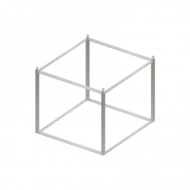 Advertising cube structure without panels