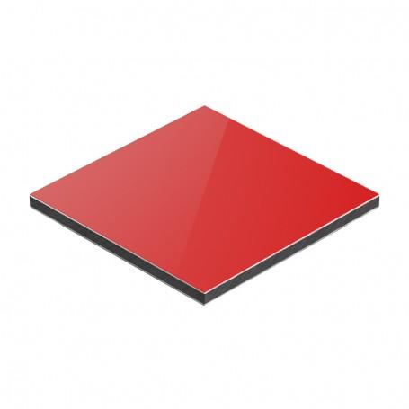 Panou aluminiu compozit rosu mat 1500 x 4050 x aluminiu 0.3mm