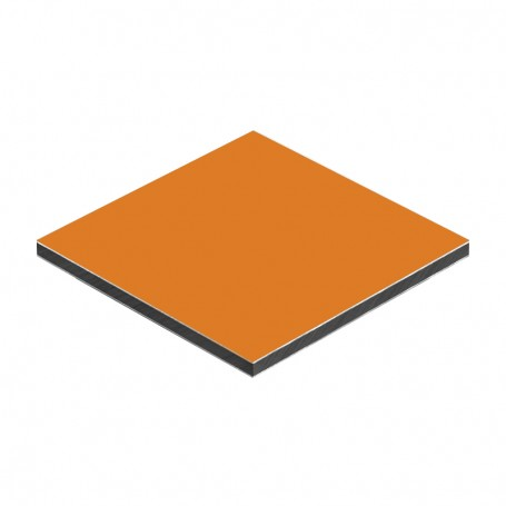 Aluminum Composite Panel Orange Color 1500 x 4050 x aluminium 0.3mm