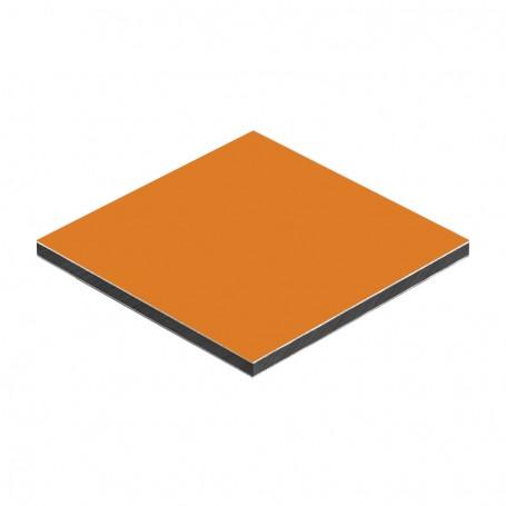 Panou aluminiu compozit orange mat 1500 x 4050 x aluminiu 0.3mm