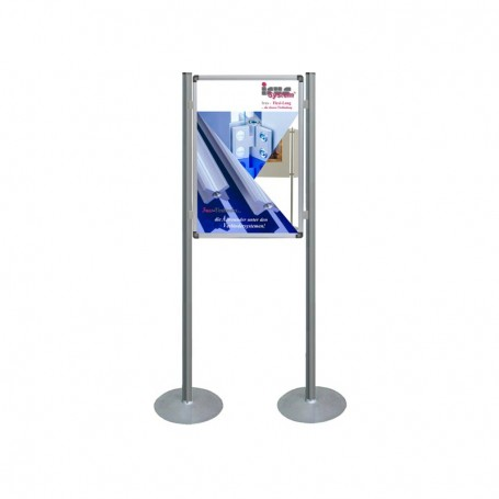 Single sided poster display system basic mode