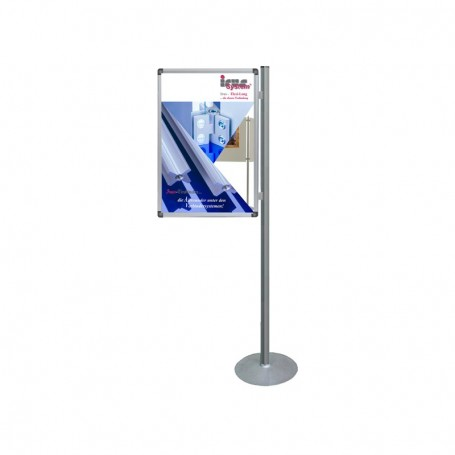 Single sided poster display system 180° mobile