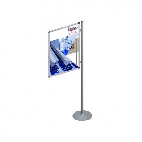 Single sided poster display system mobile 90°-270°