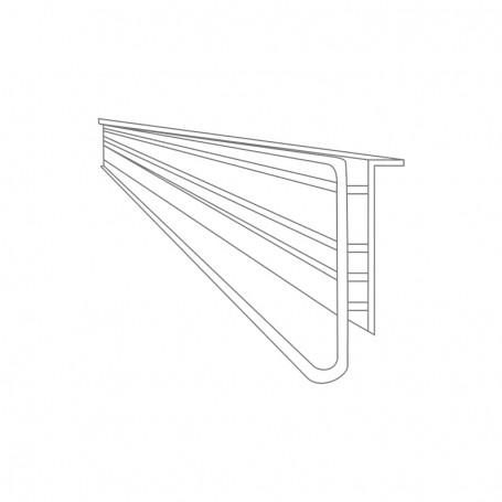 Electronic label rail 1000x37.5 x13mm