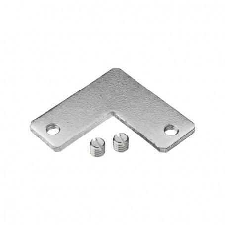 Coltar metalic pentru profil aluminiu, prindere laterala