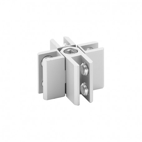 Fixed transverse connector with 4 ways pre-assembled, panels 3-8mm