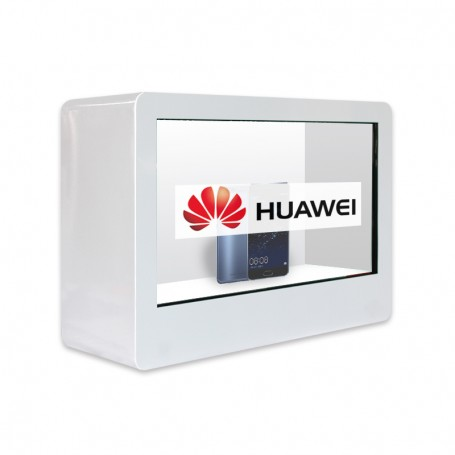"Display box 32"" transparent LCD screen"