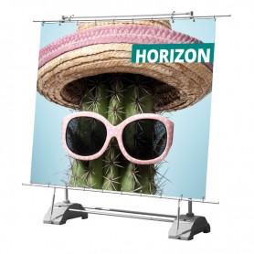 Horizon roll-up banner