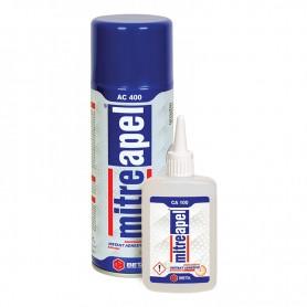 Mitreapel Universal Bicomponent Adhesive 100g + Activator Spray, 400ml