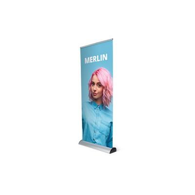 Merlin roll-up banner