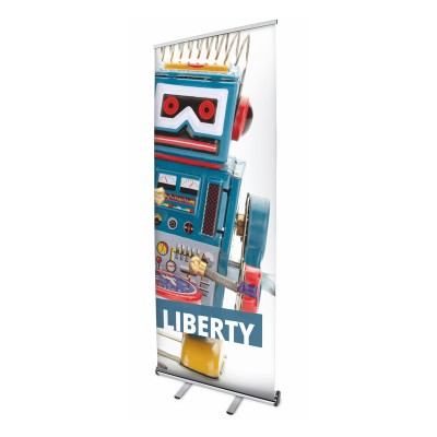 Liberty roll-up banner