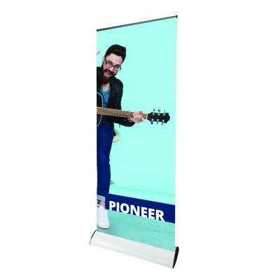 Pioneer roll-up banner