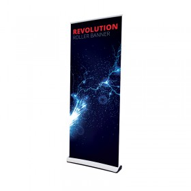 Revolution roll-up banner