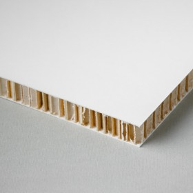 Printable honeycomb panel, white-kraft