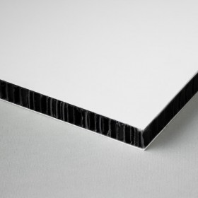 Printable honeycomb panel, white-black