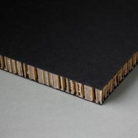 Printable honeycomb panel, black-kraft