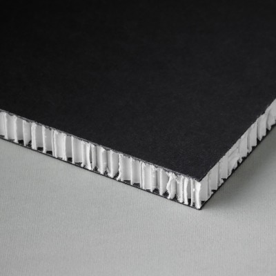 Printable honeycomb panel, black-white