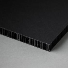Printable honeycomb panel, black-black