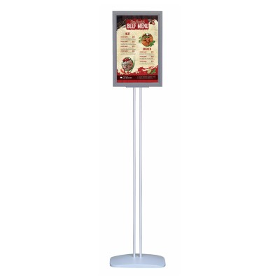 Info/Deco menu stand with foot